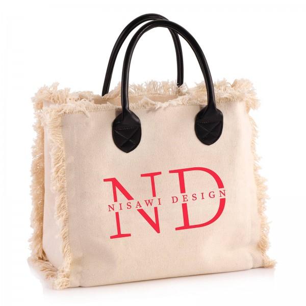 "NISAWI Shopper ""Love Letters"" natur"