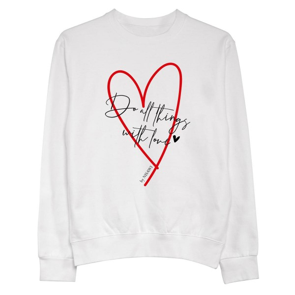 "Pullover ""Do all things with love"""