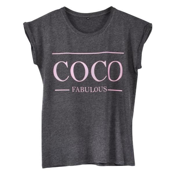 """T-Shirt rosa """"Coco Fabulous"""""""