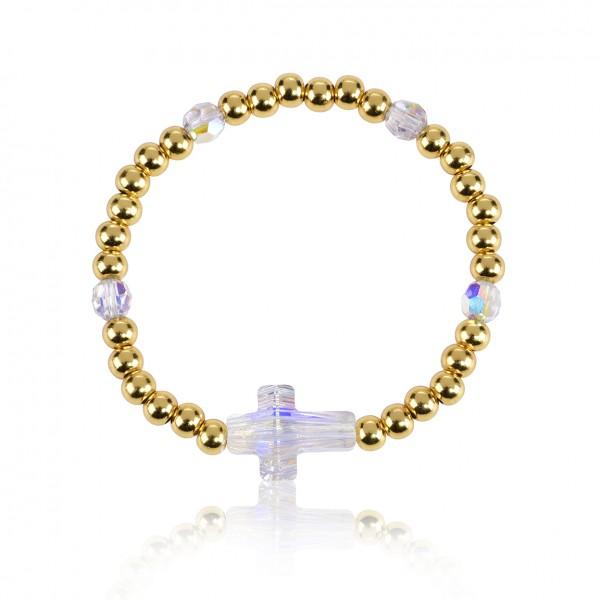 """Armband """"Kreuz Gold"""""""