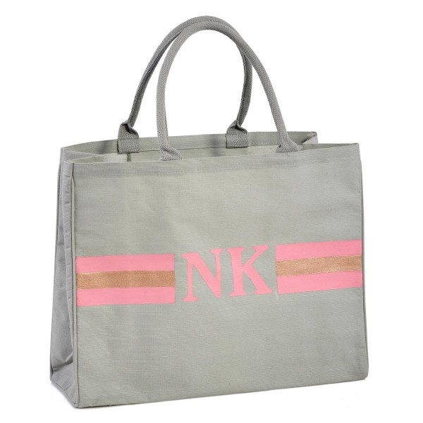 "Shopper ""Stripes Lachs / Gold"""