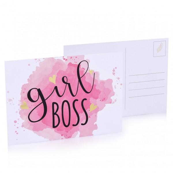 """Postkarte """"Girl Boss"""""""