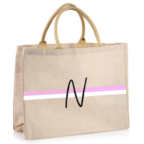 "Shopper ""Curved Love Letters"" rosa/white"