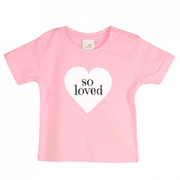 "Baby/Kids T-Shirt ""So loved"""