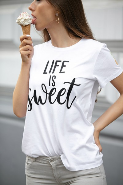 """NISAWI T-Shirt """"Life is sweet"""""""