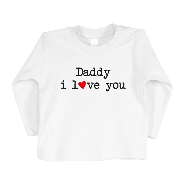 "Kinder Longsleeve ""Daddy i love you"""