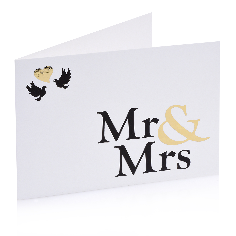 klappkarte mr mrs bridal party unsere produkte nisawi design. Black Bedroom Furniture Sets. Home Design Ideas