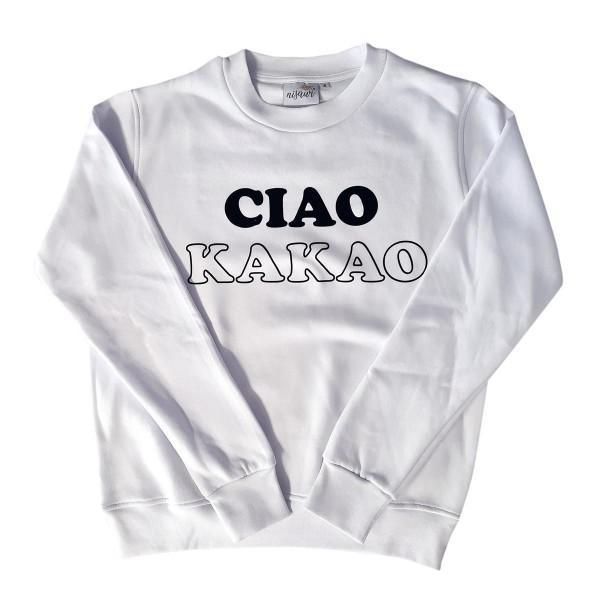 "Pullover Sample ""Ciao Kakao"" weiß"
