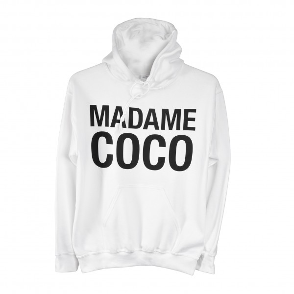 "Hoodie white ""Madame Coco"""