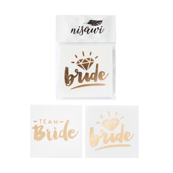 "Flash-Tattoo-Set ""Bride & Team Bride"" (10 Stk.)"