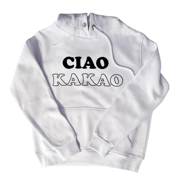"""Hoodie Sample """"Ciao Kakao"""" weiß"""