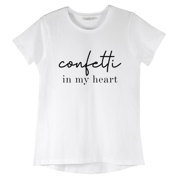 "NISAWI T-Shirt ""Confetti in my heart"""