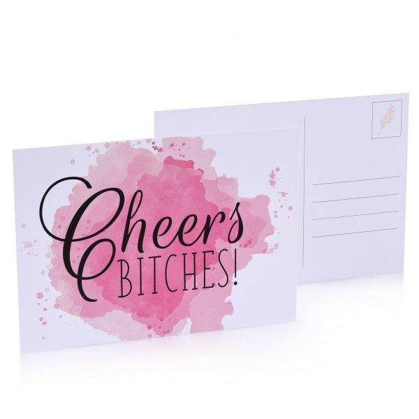 "Postkarte ""Cheers B*tches!"""