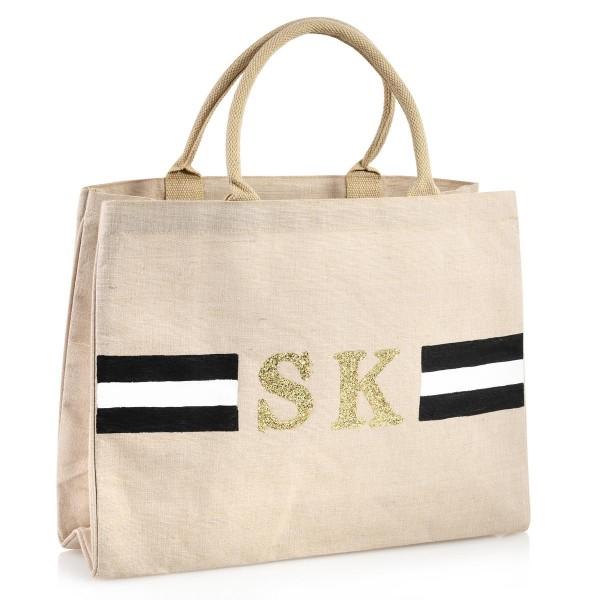 "Shopper ""Stripes Schwarz / Weiß"""