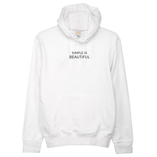 "Hoodie ""Simple is beautiful"""