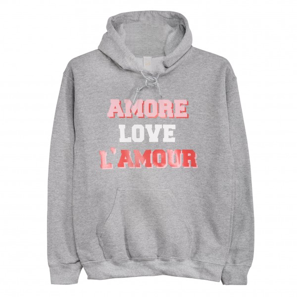 "Hoodie ""Amore Love L`amour"""