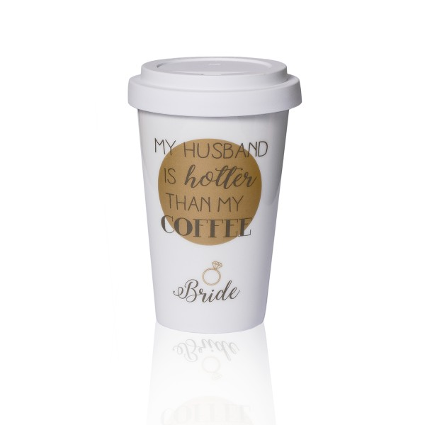 "Coffee to go Becher ""Bride"""