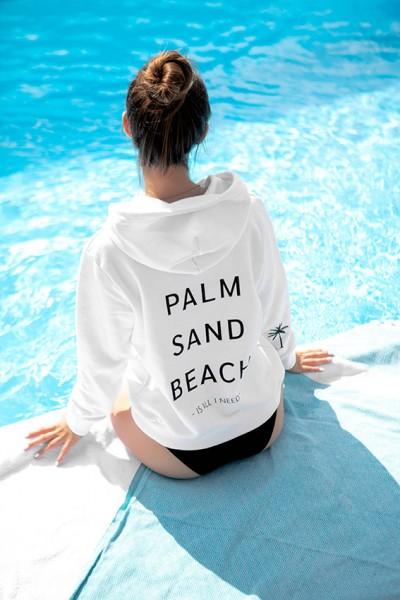 """NISAWI Hoodie """"Palm Sand Beach"""""""
