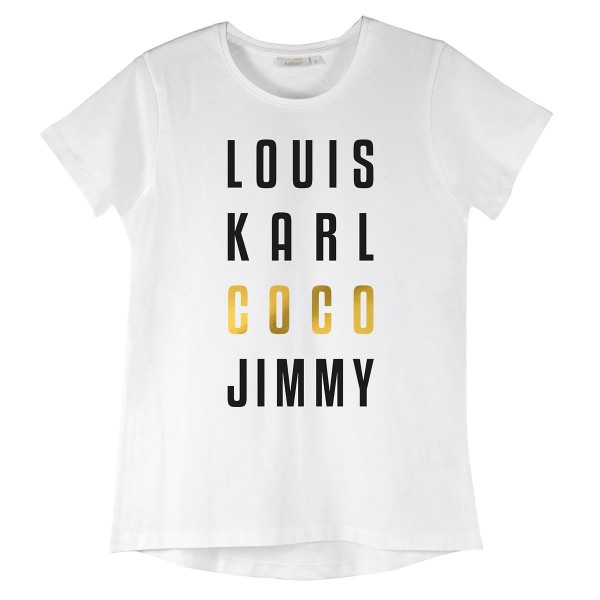 "NISAWI T-Shirt ""Louis Karl Coco Jimmy"" white"