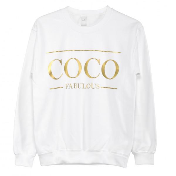 "Pullover white ""Coco Fabulous"""