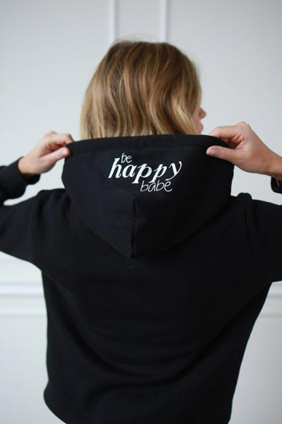 """NISAWI Hoodie """"Be happy babe"""""""