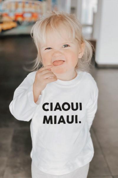"""Kinder Longsleeve """"CIAOUI MIAUI"""""""