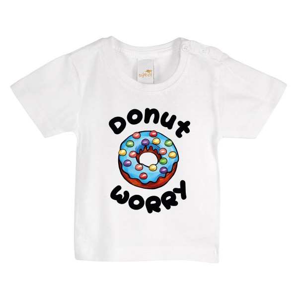 "Baby/Kids T-Shirt ""Donut worry white """