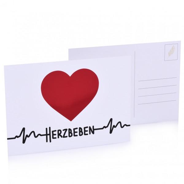 """Postkarte """"Herzbeben"""""""