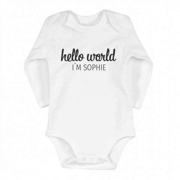 "Baby-Strampler ""Hello World"""