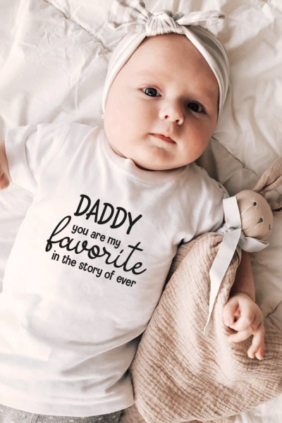 """Baby/Kids T-Shirt """"Daddy you are my favorite"""""""