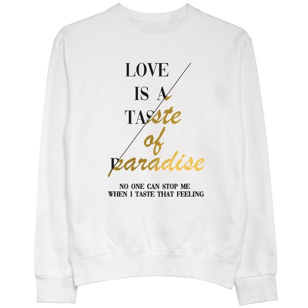 """Pullover """"Love is a taste"""""""