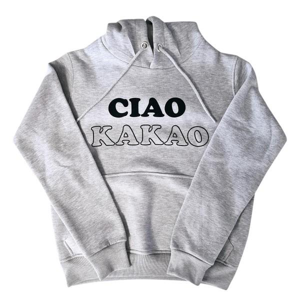 "Hoodie Sample ""Ciao Kakao"" grau"
