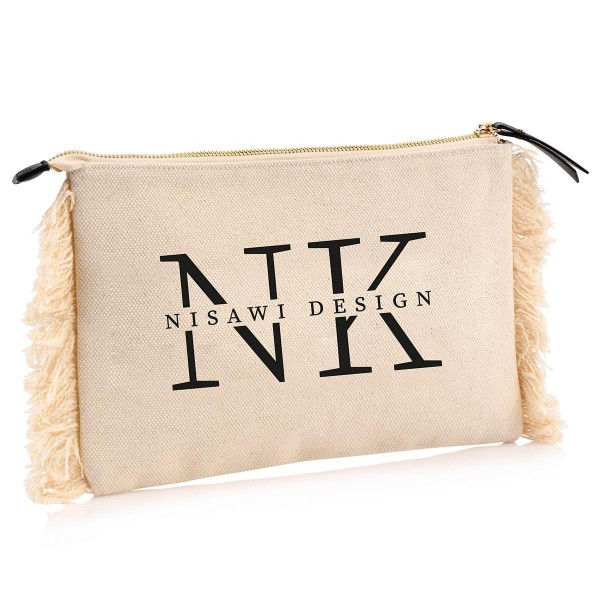 "NISAWI Clutch ""Love Letters"" natur"
