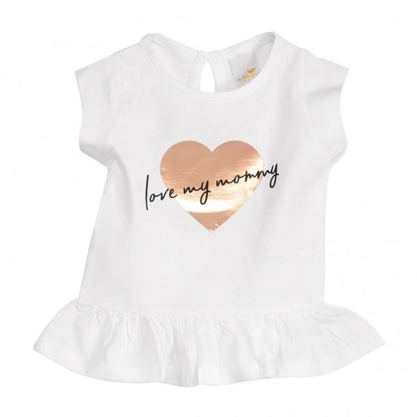 """Mädchen T-Shirt mit Rüschen """"Herz"""""""