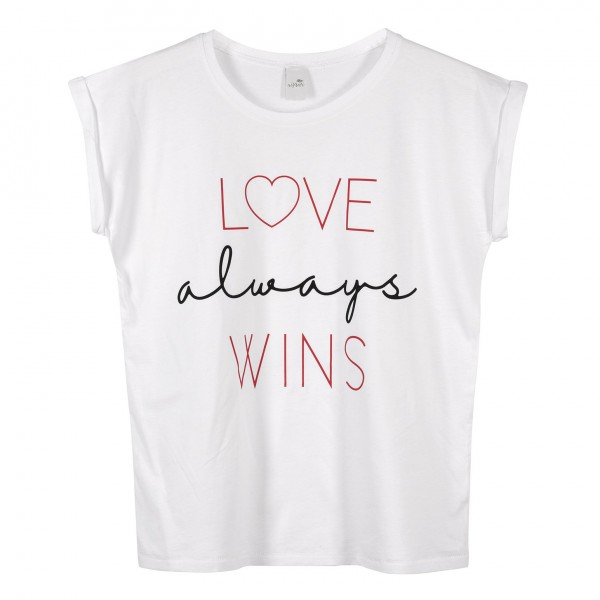 "T-Shirt ""Love always wins"""
