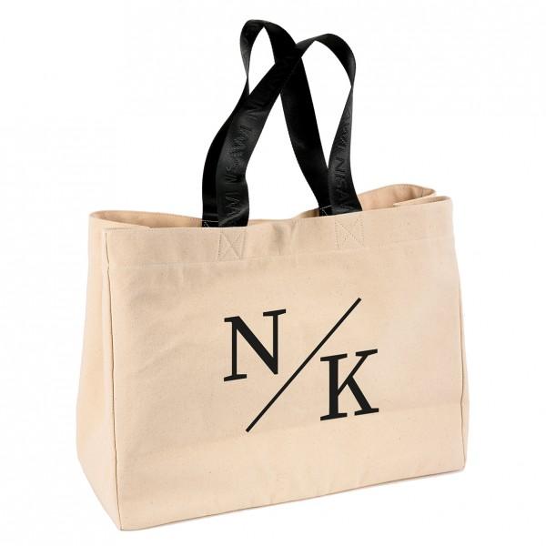 """NISAWI Shopper """"Initials"""" natur"""