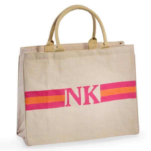 "Shopper ""Stripes Pink / Orange"""